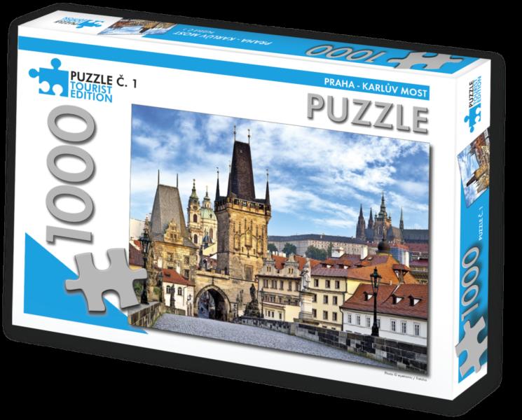 TOURIST EDITION Puzzle Praha - Karlův most 1000 dílků (č.1)