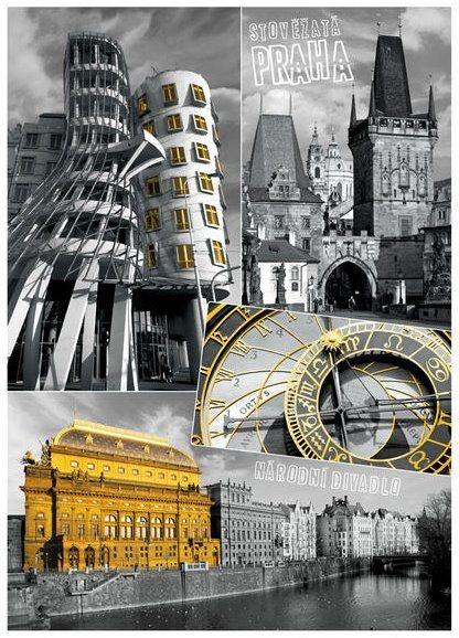 DINO Puzzle Praha - koláž 1000 dílků