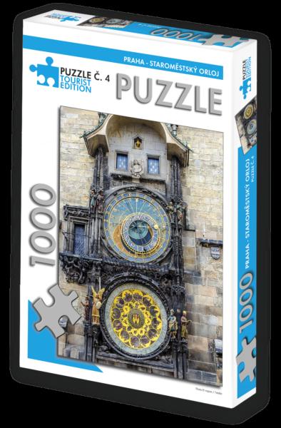 TOURIST EDITION Puzzle Praha - Staroměstský orloj 1000 dílků (č.4)