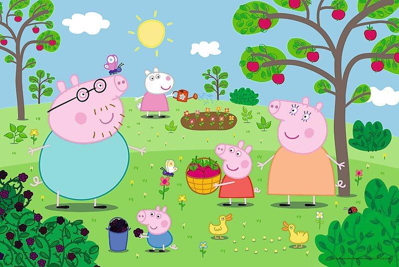 TREFL Puzzle Prasátko Pepina: Na zahradě MAXI 15 dílků
