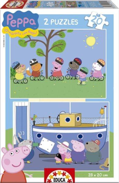 EDUCA Puzzle Prasátko Peppa 2x20 dílků