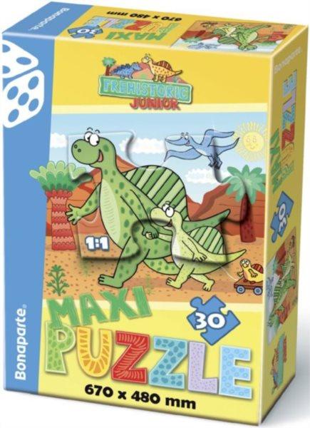 BONAPARTE Puzzle Prehistoric: Na procházce s dinosaury MAXI 30 dílků