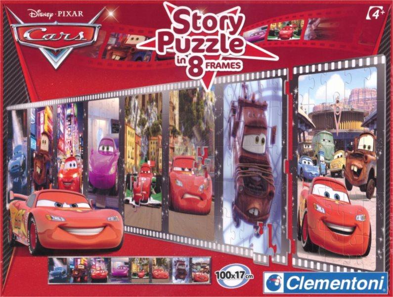 CLEMENTONI puzzle 8 x Puzzle příběh Cars Auta 25 dílků