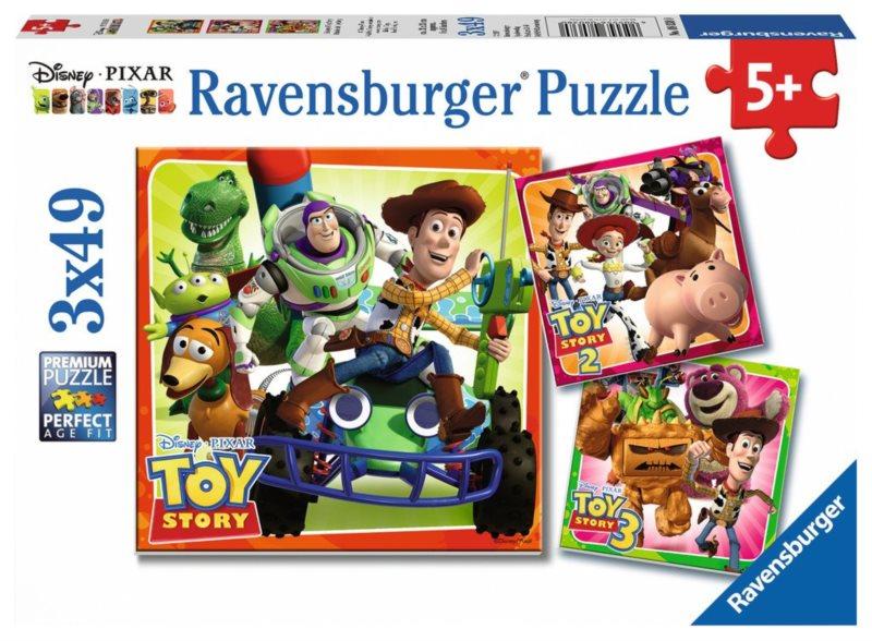 RAVENSBURGER Puzzle Příběh hraček 3x49 dílků