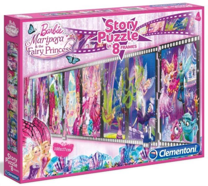CLEMENTONI Dětské puzzle 8 x 25 dílků - Puzzle příběh: Barbie Mariposa