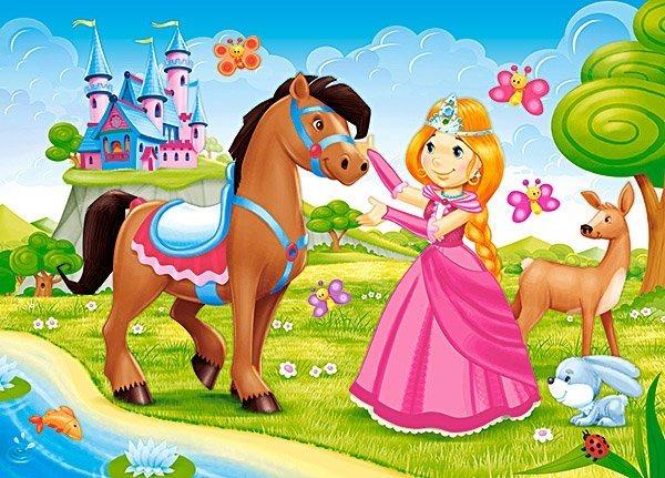 CASTORLAND Puzzle Princezna a její přítel 60 dílků