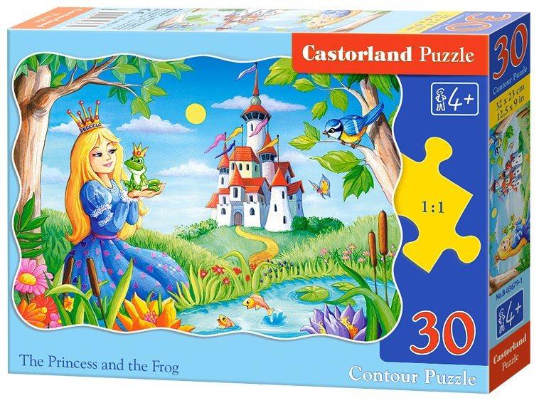 CASTORLAND Puzzle Princezna a žabák 30 dílků