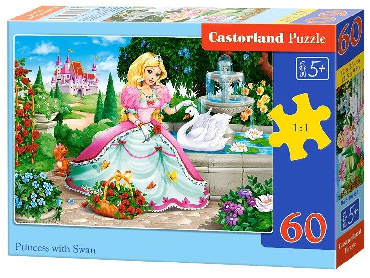 CASTORLAND Puzzle Princezna s labutí 60 dílků