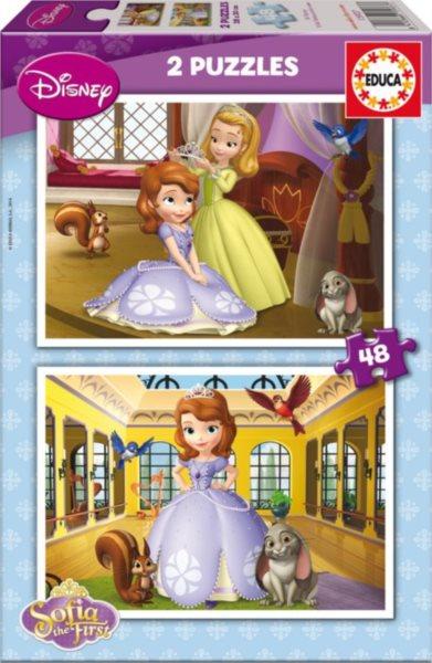 EDUCA Puzzle Princezna Sofie První 2x48 dílků