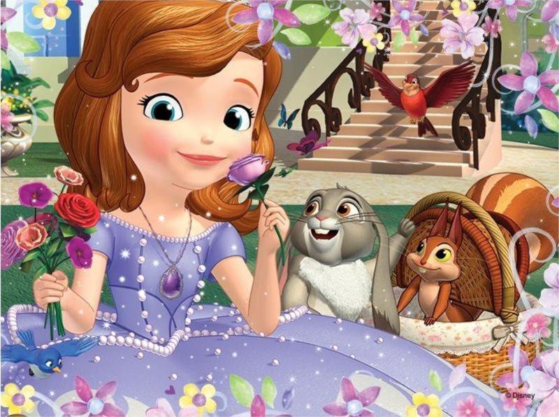 TREFL Puzzle Princezna Sofie První: Voňavé růže 30 dílků