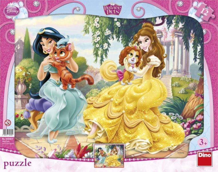 DINO Puzzle Princezny a mazlíčci 12 dílků