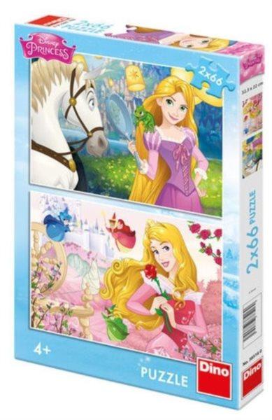 Dětské puzzle DINO 2x 66 dílků - Princezny: Portréty 2v1