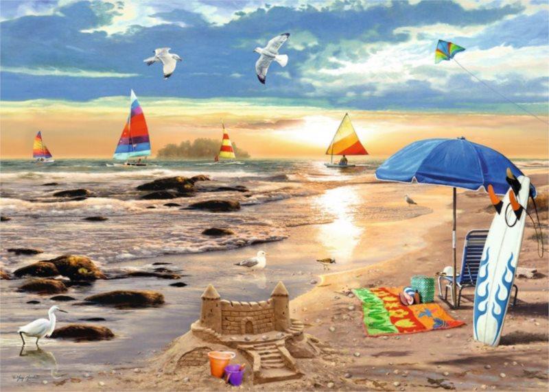 Puzzle RAVENSBURGER 1000 dílků - Připraveni na léto