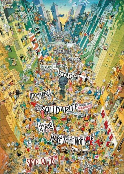 HEYE Puzzle Protest! 2000 dílků