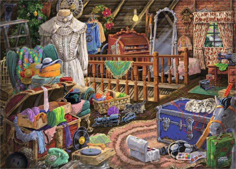 Puzzle RAVENSBURGER 500 dílků - Půda