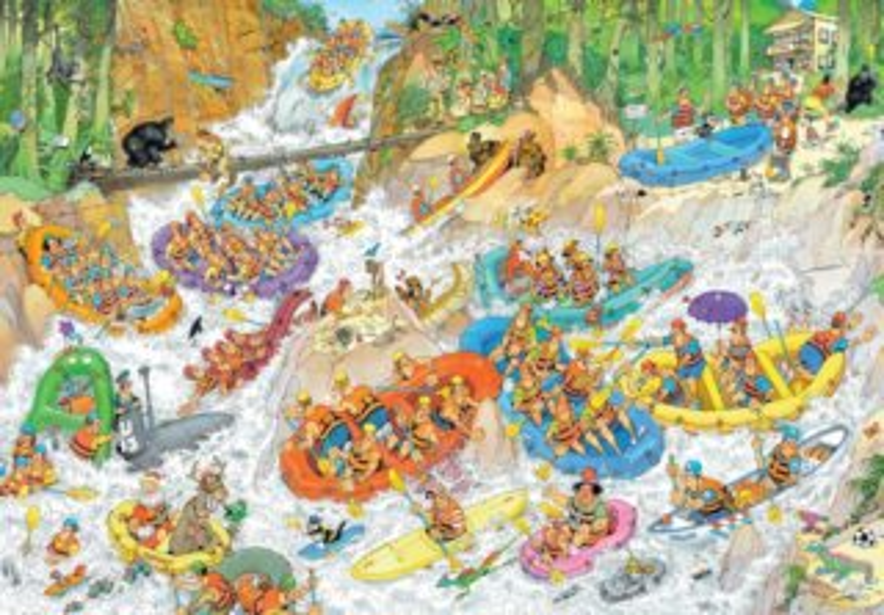 JUMBO 19017 Rafting na divoké vodě, Haasteren - puzzle 3000 dílků