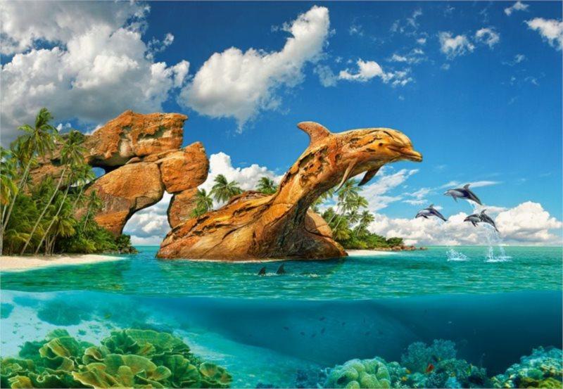 CASTORLAND Puzzle Ráj delfínů 1000 dílků