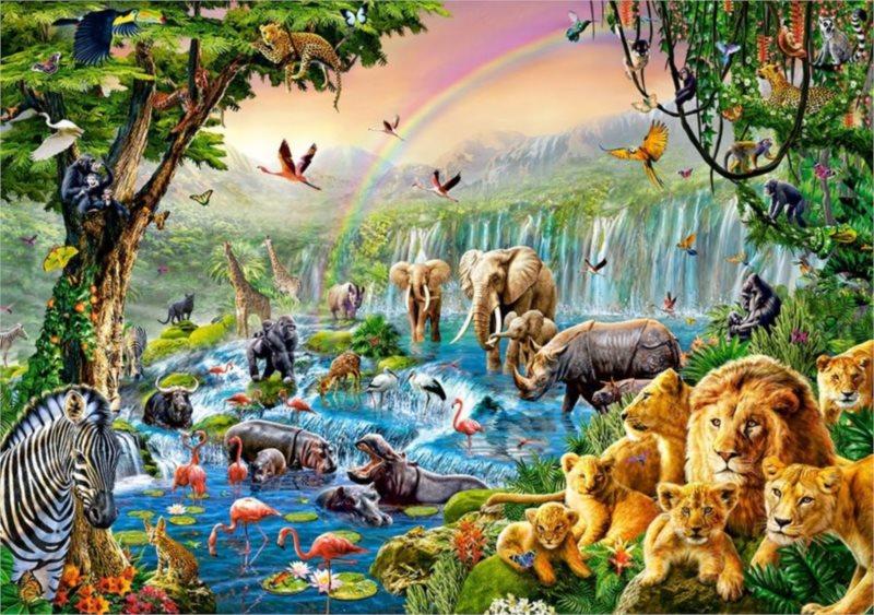 Puzzle CASTORLAND 500 dílků - Řeka v džungli