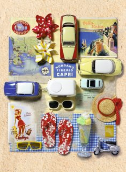 Puzzle RAVENSBURGER 500 dílků - Andrea Tilk: Retro léto v Itálii