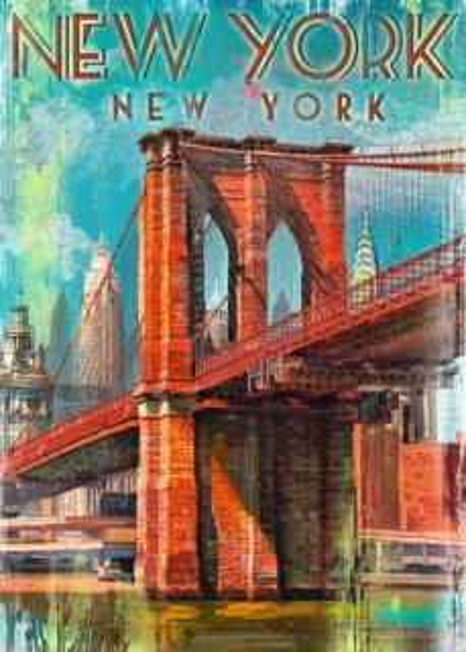 RAVENSBURGER Puzzle Retro New York 1000 dílků