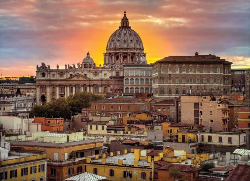 Puzzle CLEMENTONI 1000 dílků - Řím za soumraku
