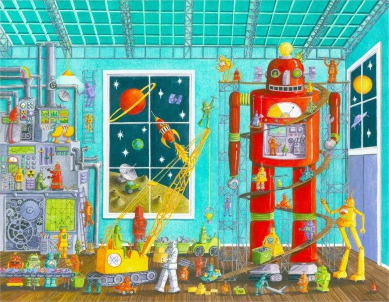 SCHMIDT Puzzle Roboti 60 dílků