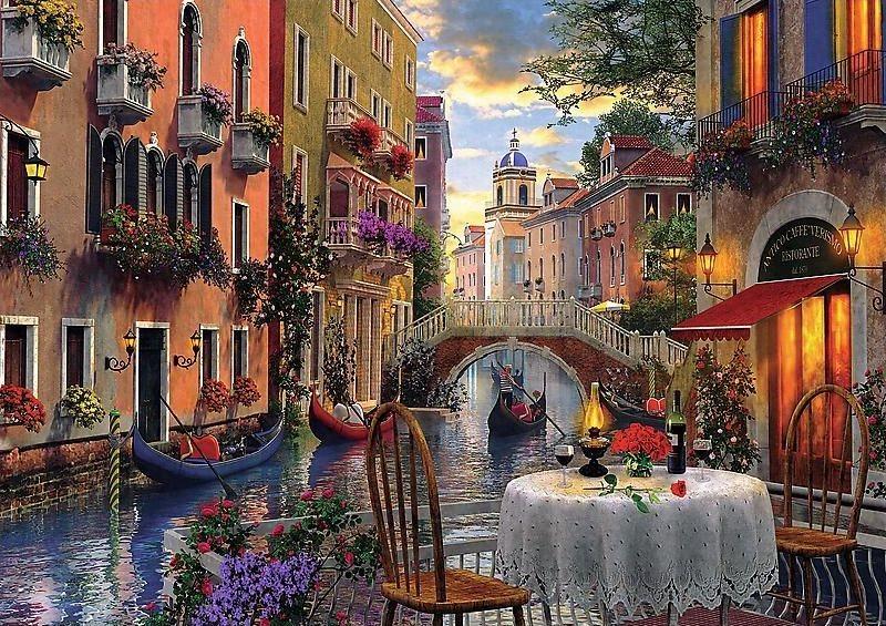 TREFL Puzzle Romantická večeře 6000 dílků