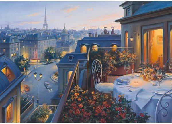 SCHMIDT Puzzle Romantický večer v Paříži 1000 dílků