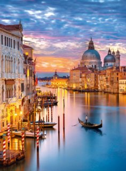 CLEMENTONI Puzzle Rozzářené Benátky 500 dílků