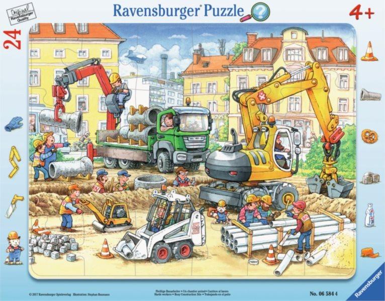 RAVENSBURGER Puzzle Rušné staveniště 24 dílků