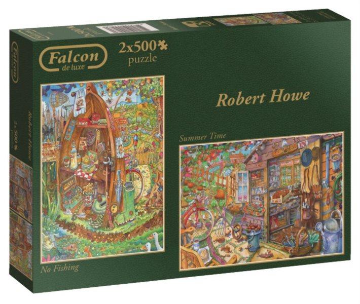 FALCON 2 x 500 dílků - Rybaření a letní čas