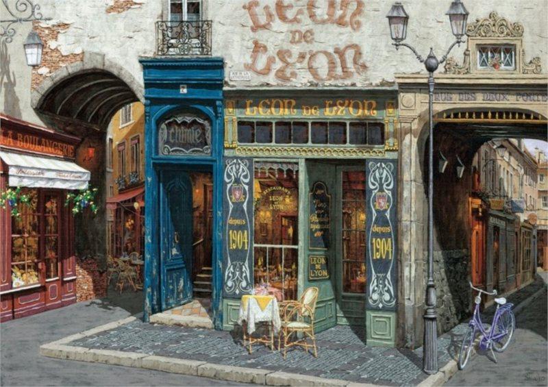 ART PUZZLE Puzzle Kavárna Leon 500 dílků