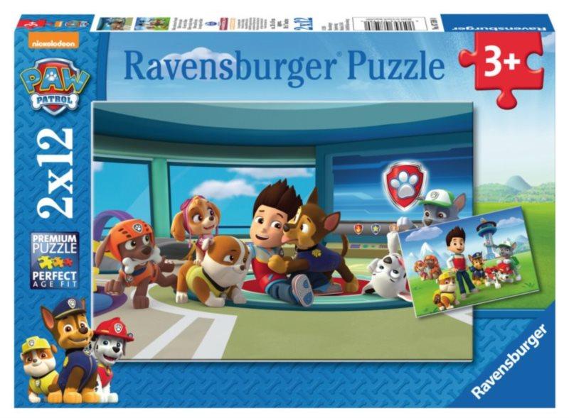 RAVENSBURGER Puzzle Ryder a tlapková patrola v akci 2x12 dílků