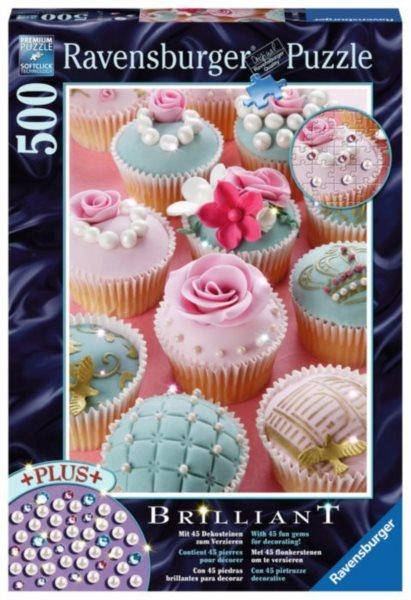 RAVENSBURGER Puzzle s drahokamy Cupcakeové nebe 500 dílků