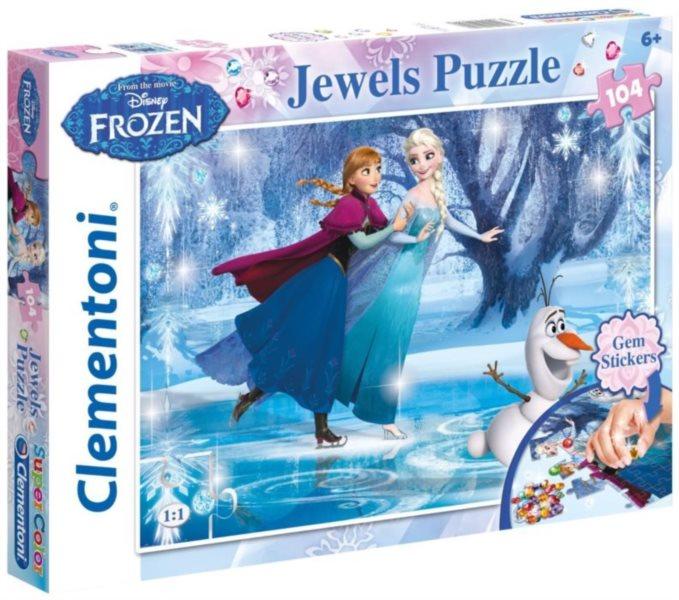 CLEMENTONI Puzzle s drahokamy Ledové království 104 dílků