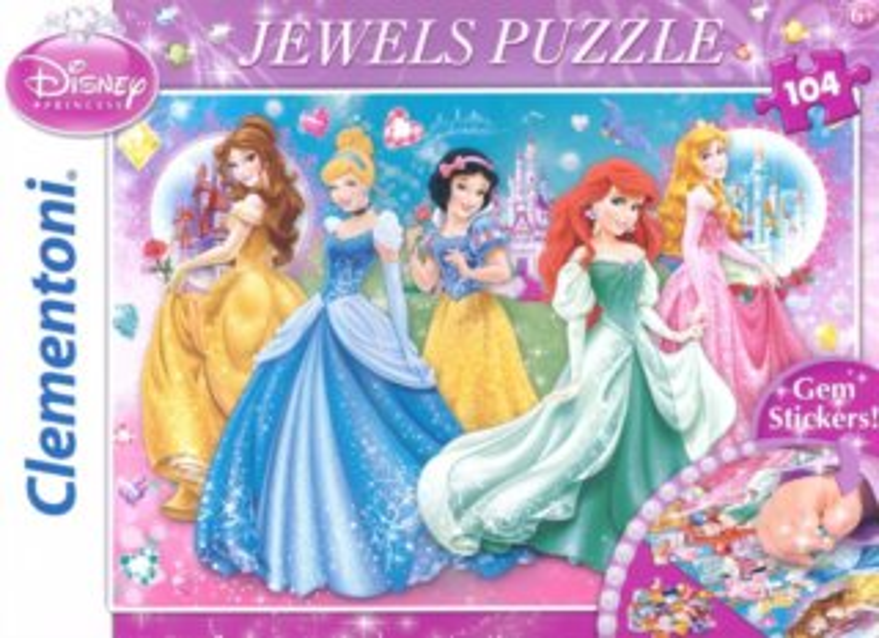 CLEMENTONI Puzzle s drahokamy Okouzlující princezny 104 dílků