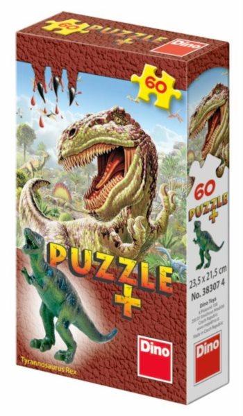 Dětské puzzle DINO 60 dílků - Mini-Puzzle s figurkou dinosaura: Tyrannosaurus Rex