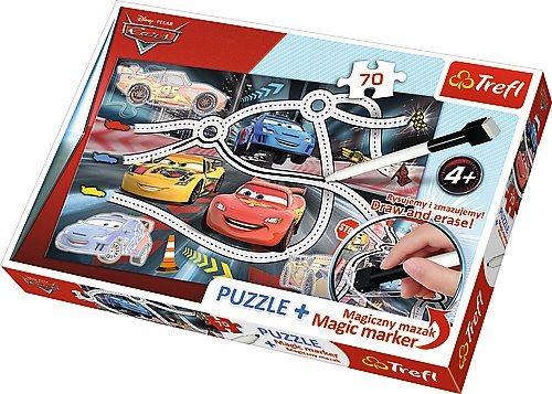 TREFL Puzzle s magickým fixem Auta 70 dílků