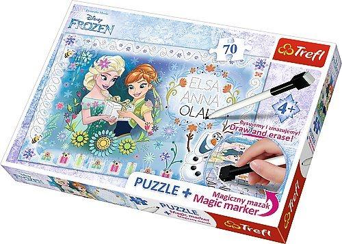 TREFL Puzzle s magickým fixem Ledové království 70 dílků