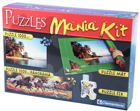 Puzzle CLEMENTONI - Puzzle sada (podložka, lepidlo, 2x1000 dílků)