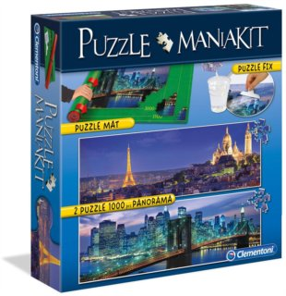CLEMENTONI Puzzle sada Mania Kit - Panorama (bez lepidla)