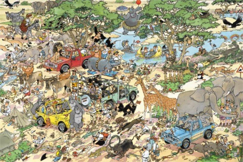 JUMBO Puzzle Safari 1500 dílků
