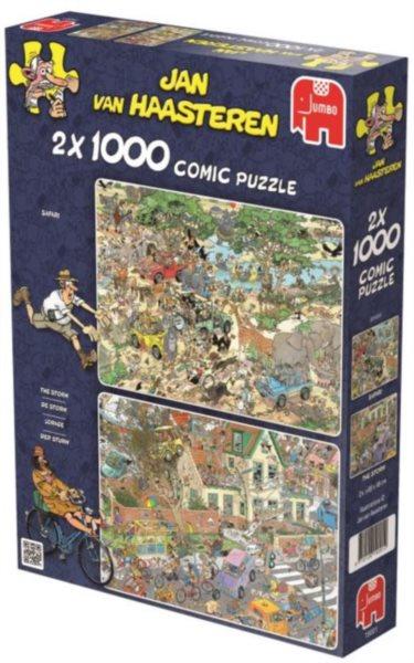JUMBO Puzzle Safari a Bouře 2x1000 dílků