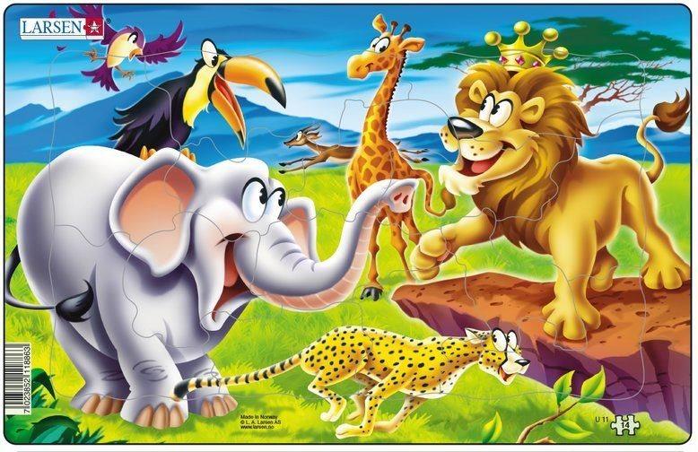 LARSEN Puzzle Safari: Na savaně 14 dílků