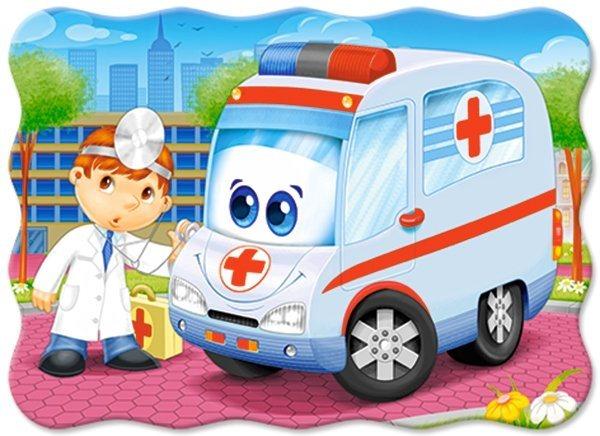 Dětské puzzle 30 dílků - Sanitka, CASTORLAND