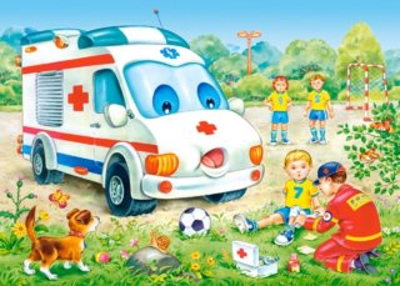 Dětské puzzle 35 dílků - Sanitka