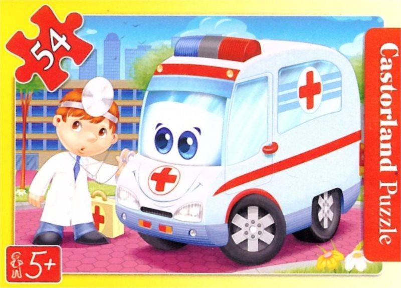 CASTORLAND Dětské puzzle 54 dílků - Sanitka