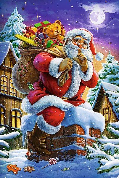 Puzzle pro děti TREFL 160 dílků - Santa Claus s dárky