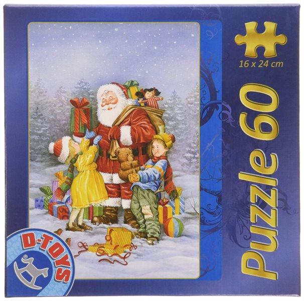 D-TOYS Puzzle Santa rozdává dárky 60 dílků