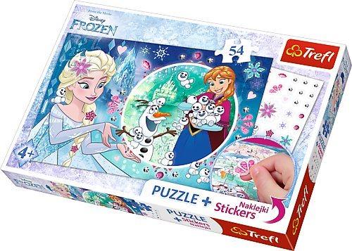 TREFL Puzzle se samolepkami Ledové království 54 dílků